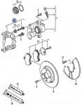 передний дисковый тормоз (суппорт) GIRLING (гирлинг) Фольксваген Пассат В3