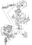 вакуумная система моновпрыска двигателей Фольксваген Пассат В3