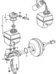 главный тормозной цилиндр с вакуумным усилителем тормозов Фольксваген Пассат В3