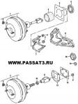 вакуумный усилитель тормозов Фольксваген Пассат В3